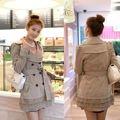 Beżowy płaszcz damski Japan Style P2757 'M'