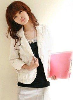 Biały żakiet damski Japan Style Z3265 'M'
