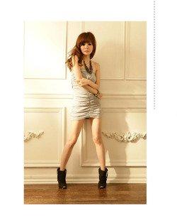 Szara sukienka bez ramiączek Japan Style S2798