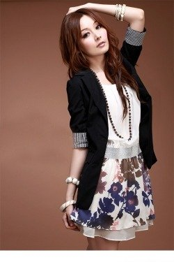 Czarny żakiet damski Japan Style Ż1597