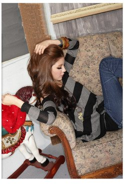 Bluzka damska w paski Japan Style B3249
