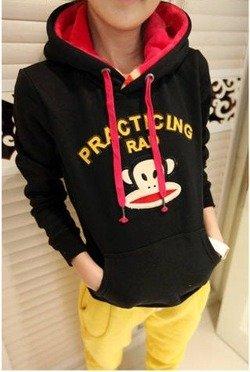 Czarna bluza damska z kapturem Japan Style B3955