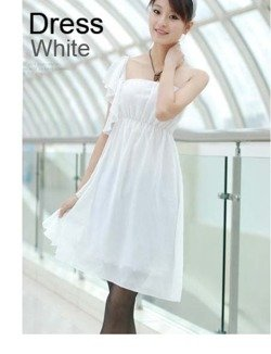 Biała sukienka damska Japan Style S1967