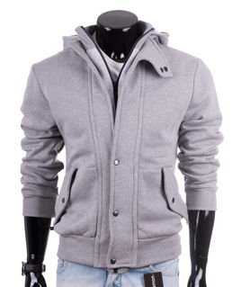 Zip-up melange men's hoodie Carlo Lamon