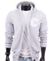 Original gray men's hoodie jacket Carlo Lamon