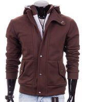 Zip-up brown men's hoodie Carlo Lamon