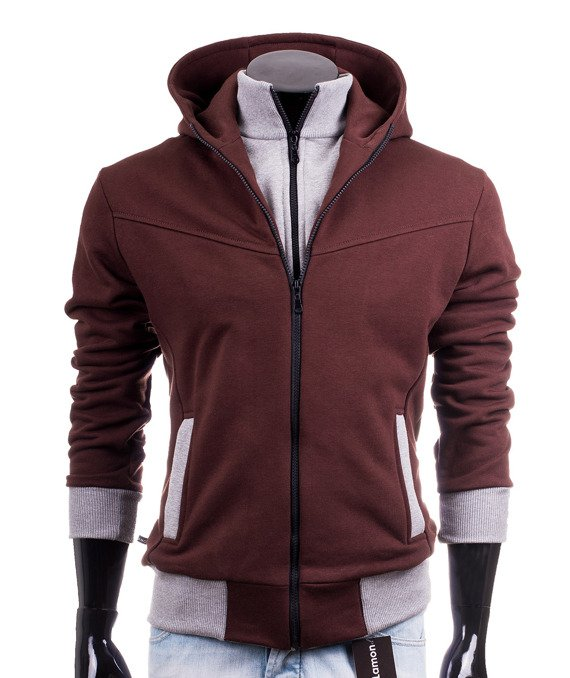 Brown knitted men's hoodie CARLO LAMON