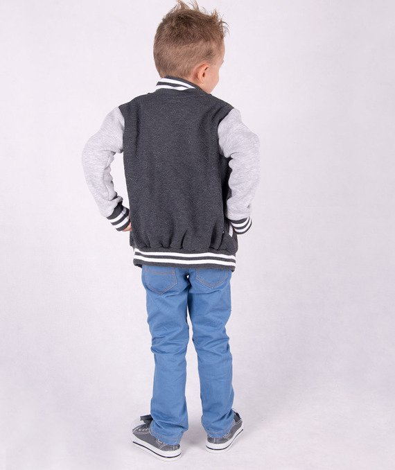 Fashionable graphite kids jacket Carlo Lamon
