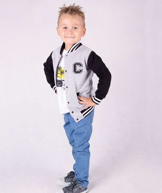 Fashionable grey kids jacket Carlo Lamon