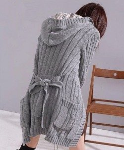 Sweter Japan Style szary SW1373