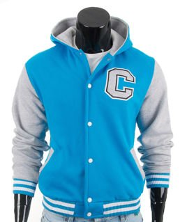 Original blue men's hoodie jacket Carlo Lamon