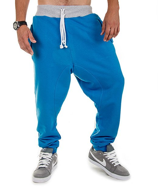 Blue men's sweatpants trousers Carlo Lamon