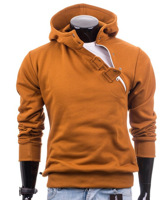 Brown camel men's hoodie sweatshirt Carlo Lamon
