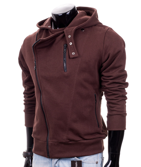 Brown men's hoodie Carlo Lamon