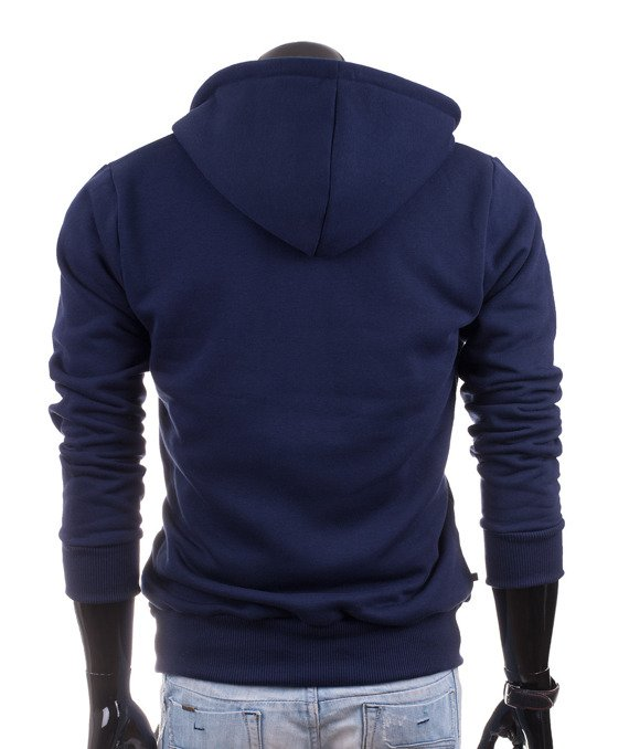 Dark blue men's hoodie Carlo Lamon