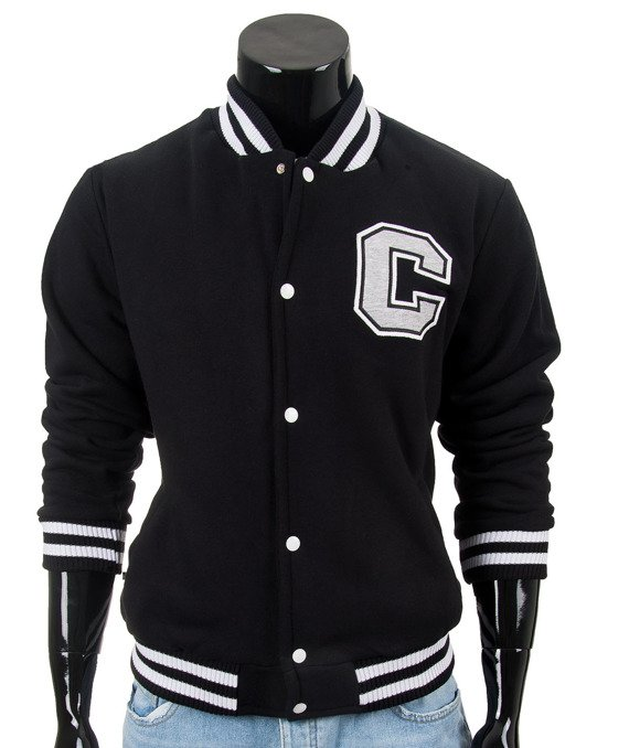 Original black men's jacket sweatshirt Carlo Lamon
