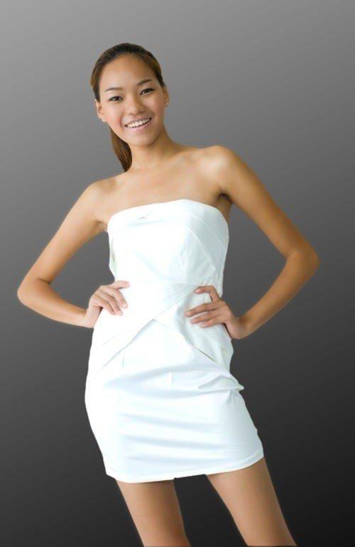 ada061ab5f Sukienka Japan Style biała S1474
